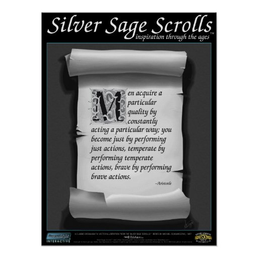 Silver Sage Scrolls™ 004: Aristotle; Character Print