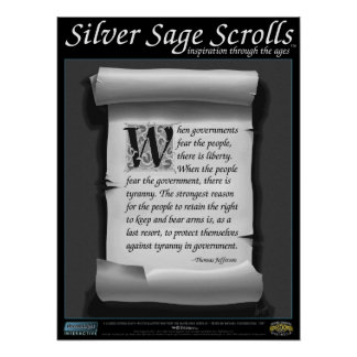 Silver Sage Scrolls™ 009: Jefferson, 2nd Amendment Poster