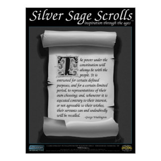 Silver Sage Scrolls™ 010: Washington; Constitution Poster