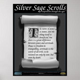 Silver Sage Scrolls™ 014: Cicero; Freedom Print