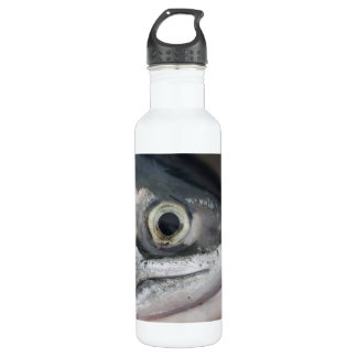 Silver Salmon Face Stainless Steel Water Bottle