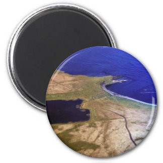 Silver Salmon Lake Outlet Fridge Magnet