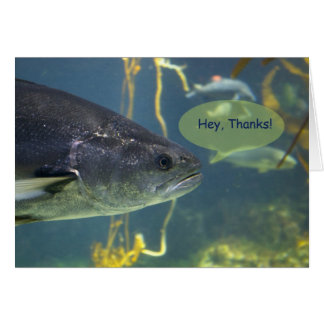 Silver Salmon Thank You 2 Card
