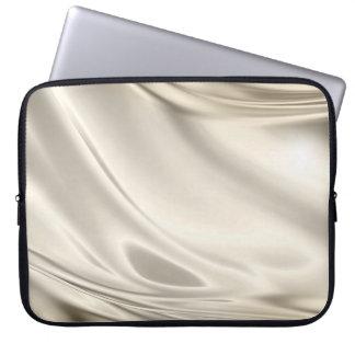 Silver Satin Fabric Smoky Silky Computer Sleeve