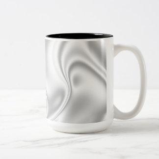 Silver Satin Two-Tone Coffee Mug