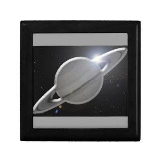 silver saturn gift box