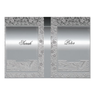 Silver Save the Date Invitation