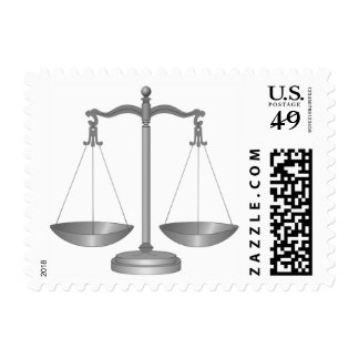 Silver Scales of Justice Law Stamp