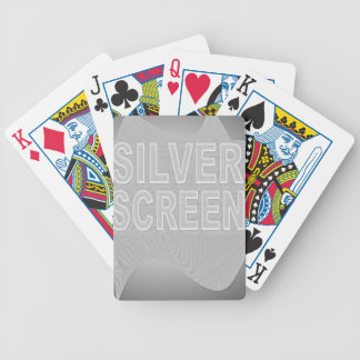 SILVER SCEEN BICYCLE PLAYING CARDS