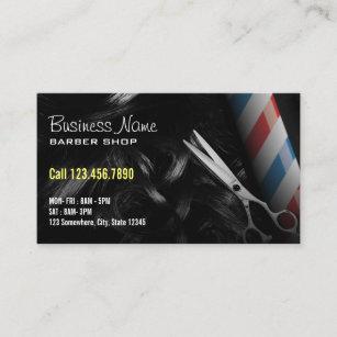 Barber shop business cards templates zazzle silver scissor professional barber shop business card flashek Choice Image