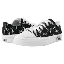 Silver Scissors Pattern Low-Top Sneakers