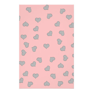 SILVER SCREEN MINI HEARTS on PINK Flyer