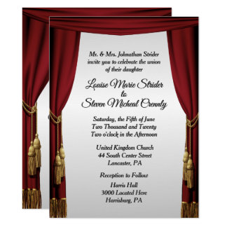 Silver Screen Movie Theme Wedding Invitation