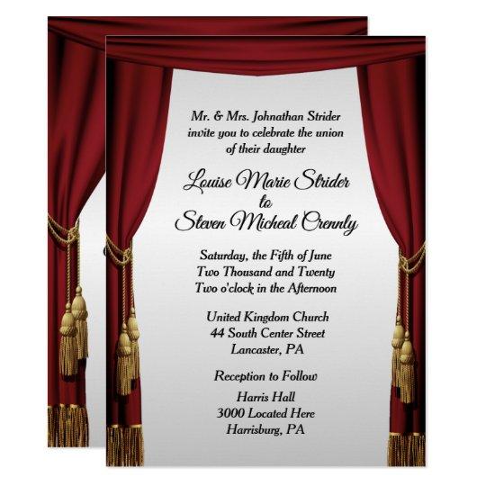 Silver Screen Movie Theme Wedding Invitation Zazzle