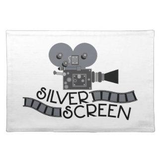 Silver Screen Cloth Place Mat