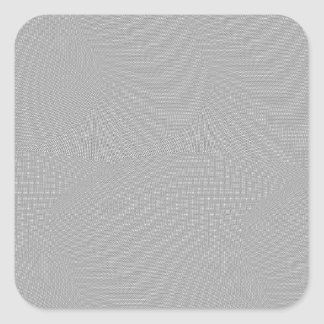 SILVER SCREEN SQUARE STICKER