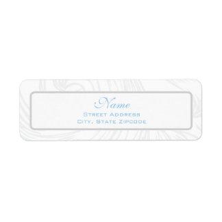 Silver Scroll Christening Address Label