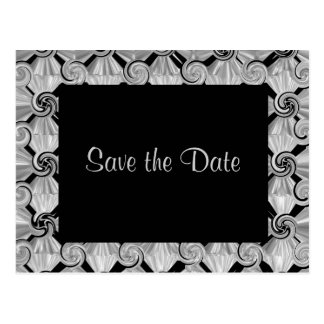 Silver Scroll Save the Date Postcard