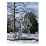 Silver Sculpture in Mellon Park Postcard