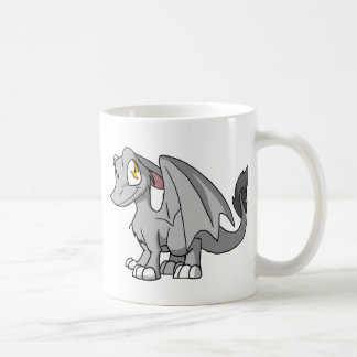 Silver SD Furry Dragon Coffee Mug
