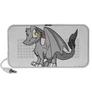 Silver SD Furry Dragon Travelling Speaker