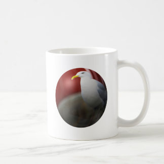 Silver sea gull coffee mug