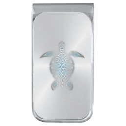 Silver Sea Turtle Silver Finish Money Clip