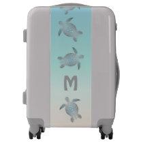 Silver  Sea Turtles Beach Style Monogram Luggage
