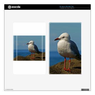 Silver Seagull Kindle Fire Skin