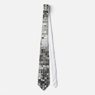 Silver Sequin Dazzle Glitz Glam Disco Mens Tie