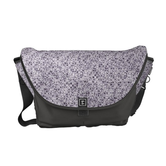 Silver Sequin Effect Rickshaw Messenger Bag