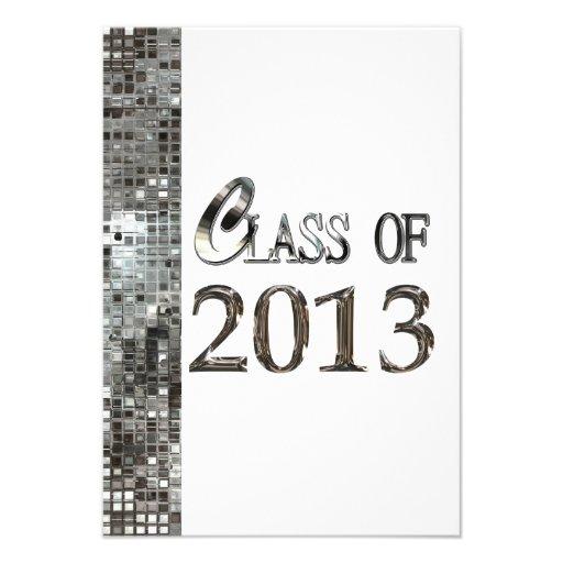 Silver Sequins Class of 2013 Grad Invitations