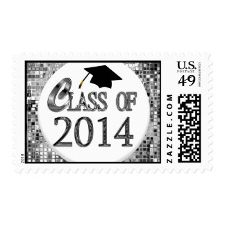 Silver Sequins Class Of 2014 Postage Stamp