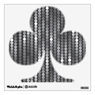 Silver Sequins Club Symbol Wall Decal