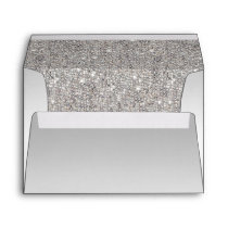 Silver Sequins Envelope