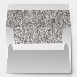 Silver Sequins Envelope