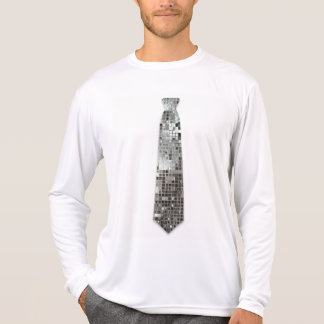Silver Sequins Look Fake Tie Funny T-Shirt
