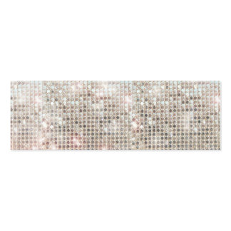 Silver Sequins Mini Profile Card Double-Sided Mini Business Cards (Pack Of 20)