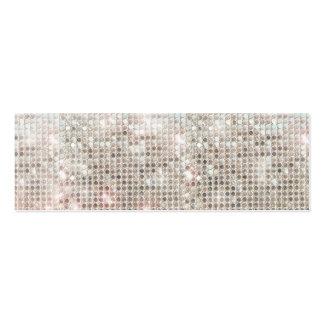 Silver Sequins Mini Profile Card Mini Business Card