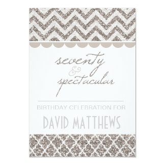 Silver Seventy and Spectacular Birthday Invite