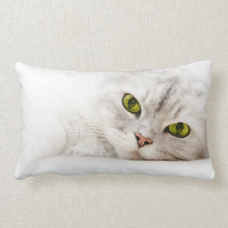 Silver shaded Persian Throw Pillow
