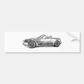 Silver Shadow MX5 Car Bumper Sticker
