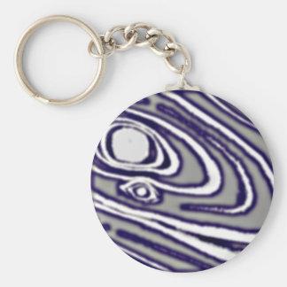 Silver-Shakudo Mokume Gane Keychain