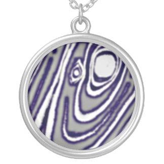 Silver-Shakudo Mokume Gane Necklace