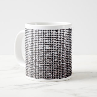 silver shimmer giant coffee mug