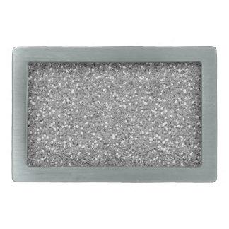 Silver Shimmer Glitter Belt Buckle