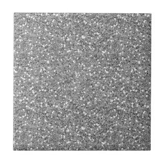 Silver Shimmer Glitter Ceramic Tile