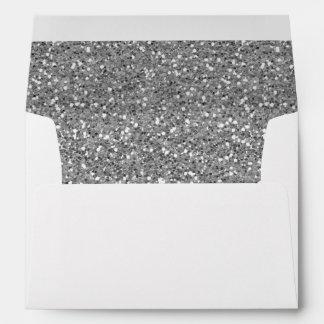 Silver Shimmer Glitter Envelope