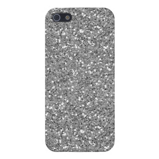 Silver Shimmer Glitter iPhone 5/5S Cases
