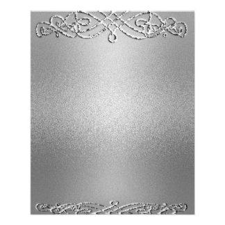 Silver Shimmer Glitter Template Background Flyer